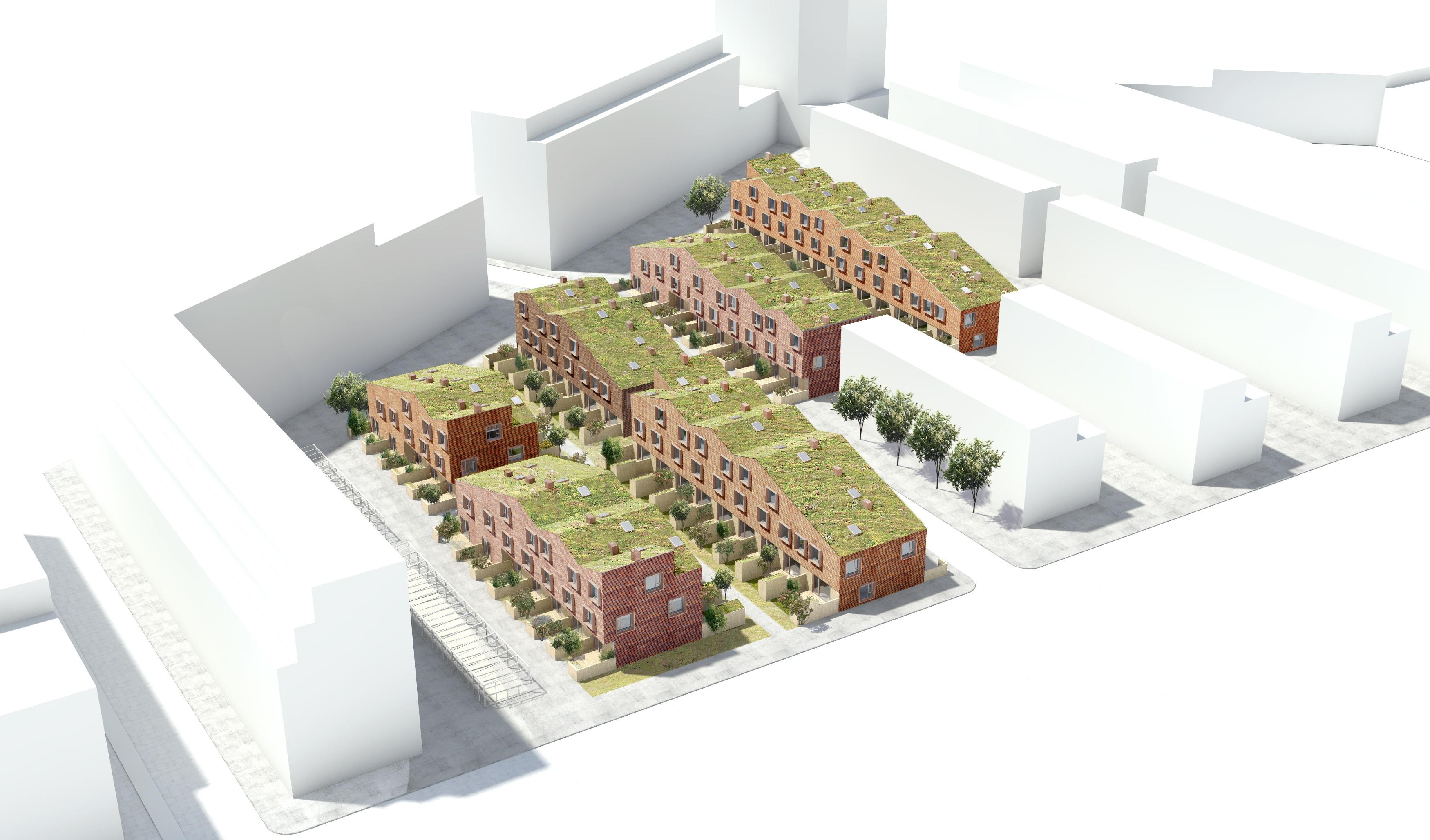 Grøntorvet_onv arkitekter præfab boliger prefabricated housing København