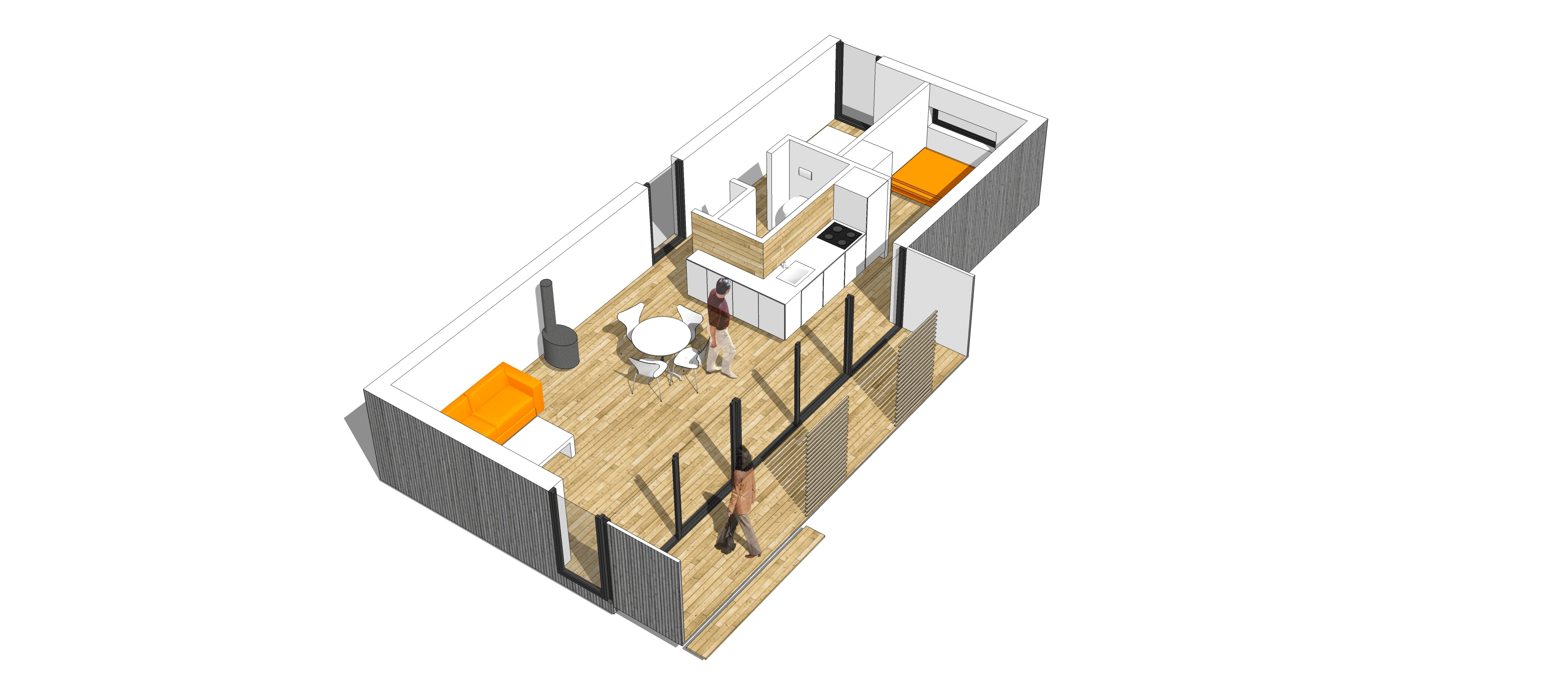 Venligbolig ONV arkitekter flygtningeboliger præfab bolig