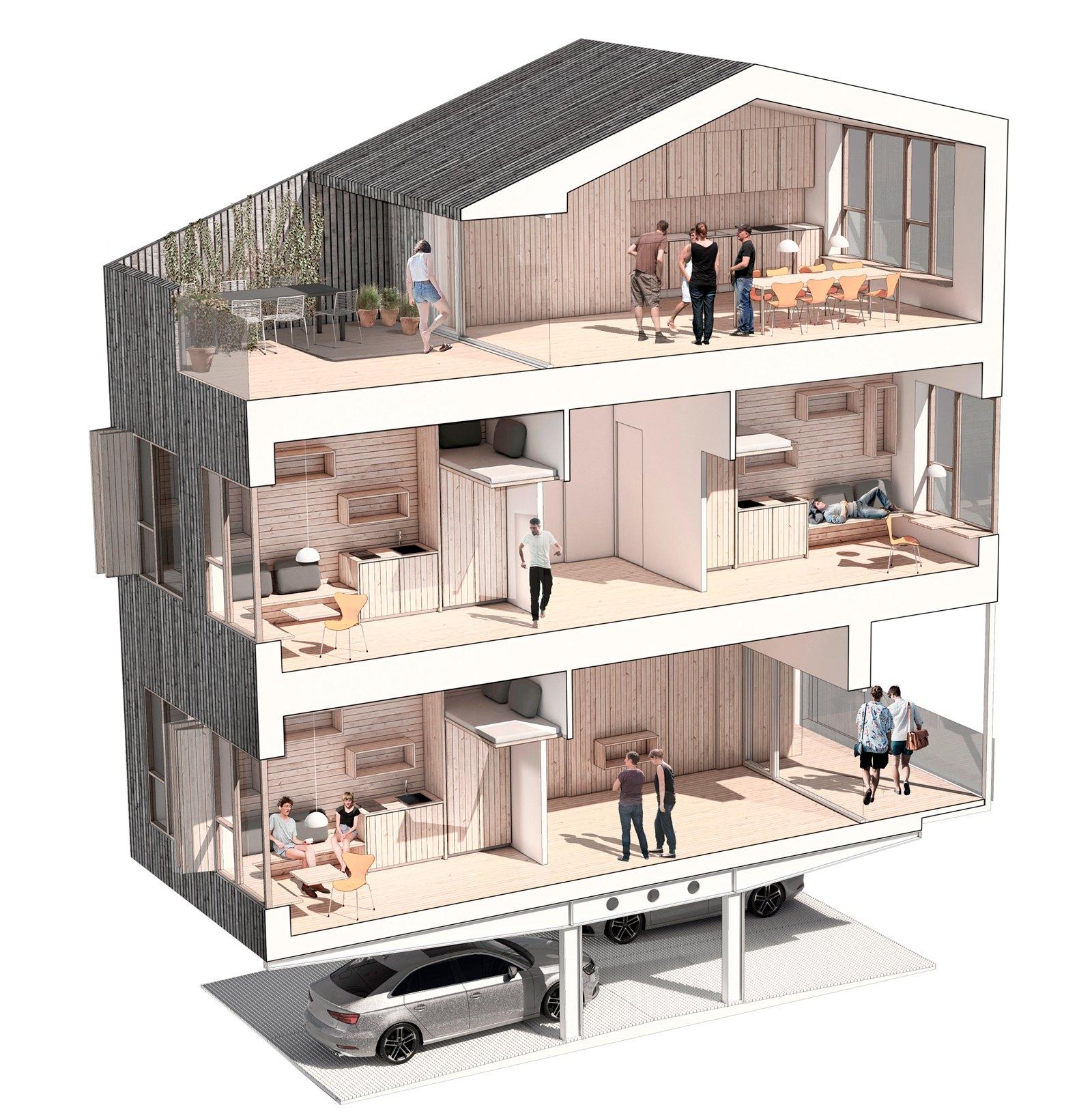 Park.-Living-Studieboliger-ONV-arkitekter-præfab-boliger-Prefab-housing