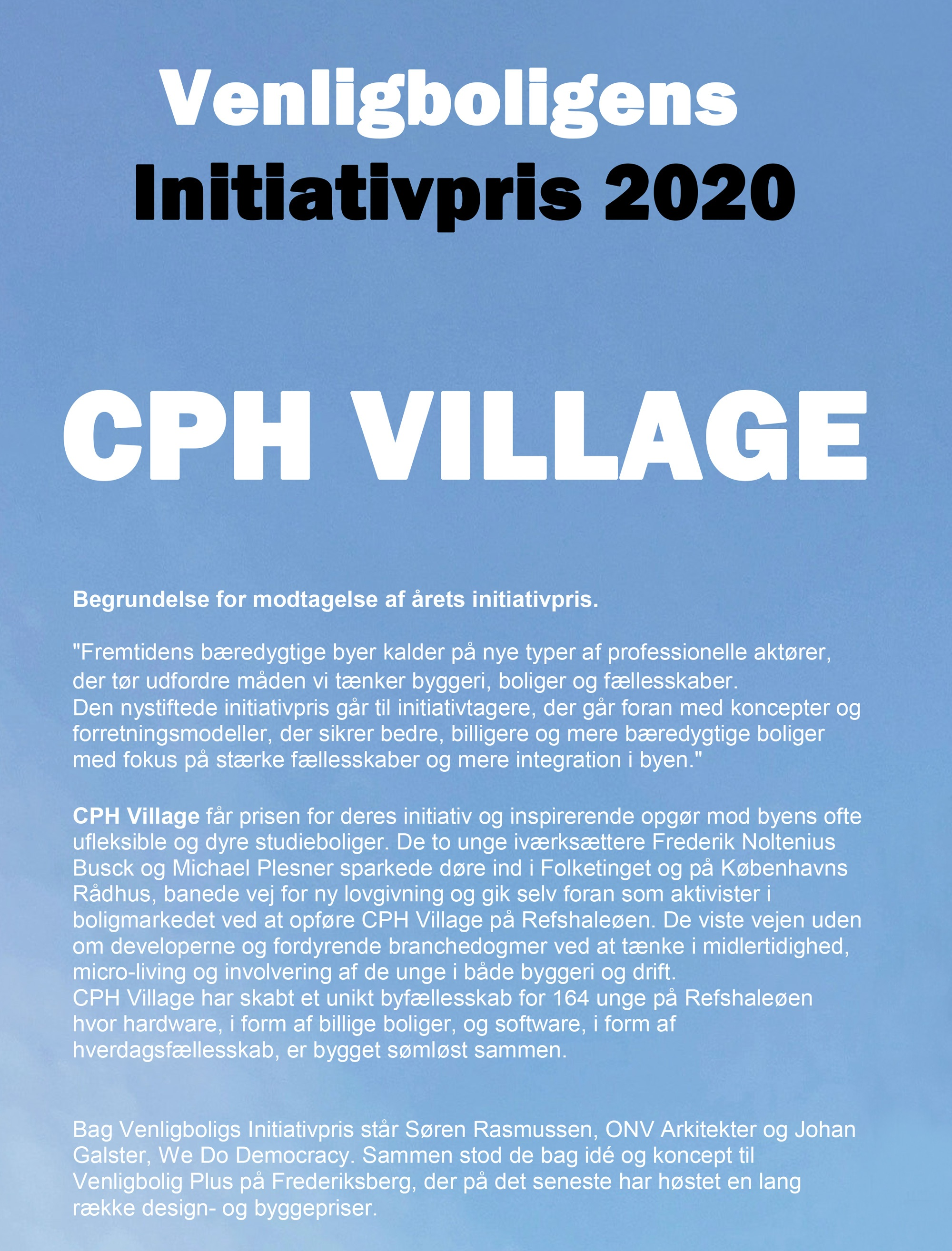 Venligbolig-Plus-Initiativpris-CPH-Village-ONV-arkitekter