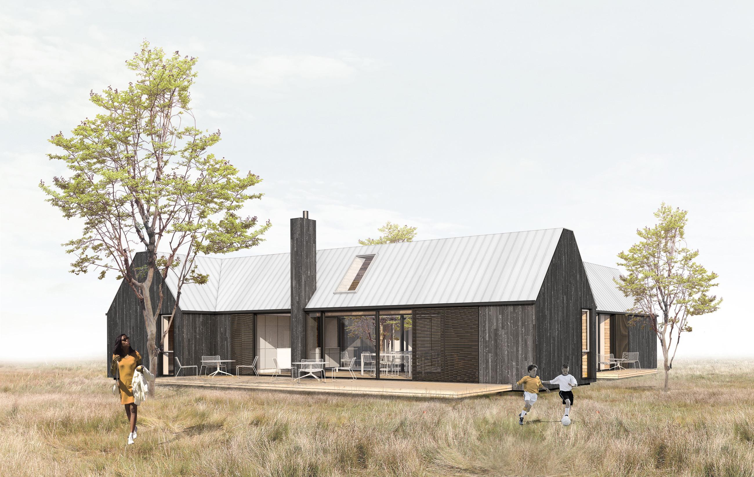 Delesommerhus-ONV-arkitekter-EBK-huse-sommerhus-fællesskab